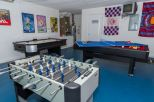 Games room with Air Hockey, Foosball, Pool & Table-Tennis Table, Darts Board and 40